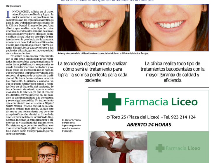 clinica-dental-berges-la-gaceta-salamanca